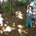 bild på barn som leker på gården